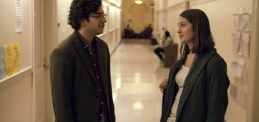 L-R: Tony (played by Mathew Shear) chats with fellow student Tracy (played by Lola Kirke).