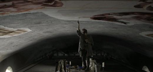 SINOSSI-7-Michelangelo-dipinge-la-Volta-della-Cappella-Sistina-Michelangelo-dipinge-la-Creazione