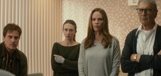 "WTH_STILLS_PULL.00000060_R (l-r.) Michael Shannon stars as ""Nick"", Taissa Farmiga as ""Emma"", Hilary Swank as ""Bridget"" and Robert Forster as ""Bert"" in Elizabeth Chomko's WHAT THEY HAD, a Bleecker Street release. Credit: Bleecker Street"
