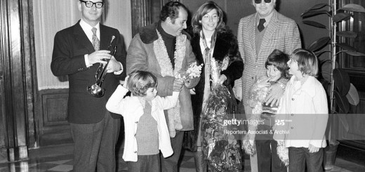 Italian musician Ennio Morricone as the best man at the wedding of Italian director Gillo Pontecorvo with Italian actress Teresa Ricci, celebrated in Campidoglio. Rome, 1971 (Photo by Reporters Associati & Archivi/Mondadori Portfolio via Getty Images)